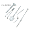 Metal Tool Set For Heng Long 1/16 Scale Panzer III RC Tank