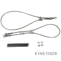 Metal towing cables with cable clamps & gun barrel cleaners for your 1/16 Heng Long, Taigen or Mato King Tiger RC Tank MT248